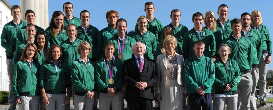Colin at Aras with team