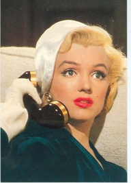 marilyn on phone