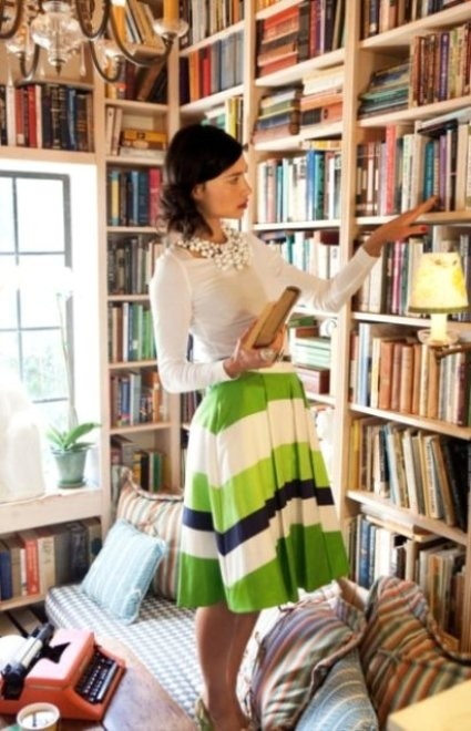 books & skirt