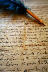 old letter & quill
