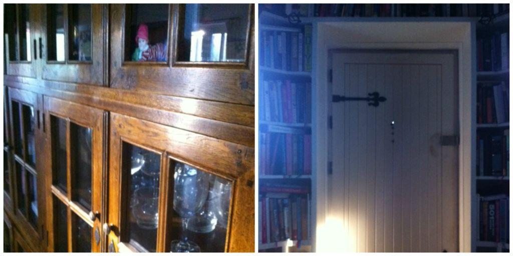 dresser and door