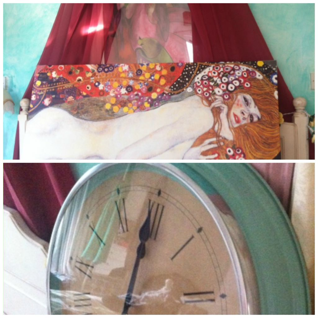clock and klimt collage