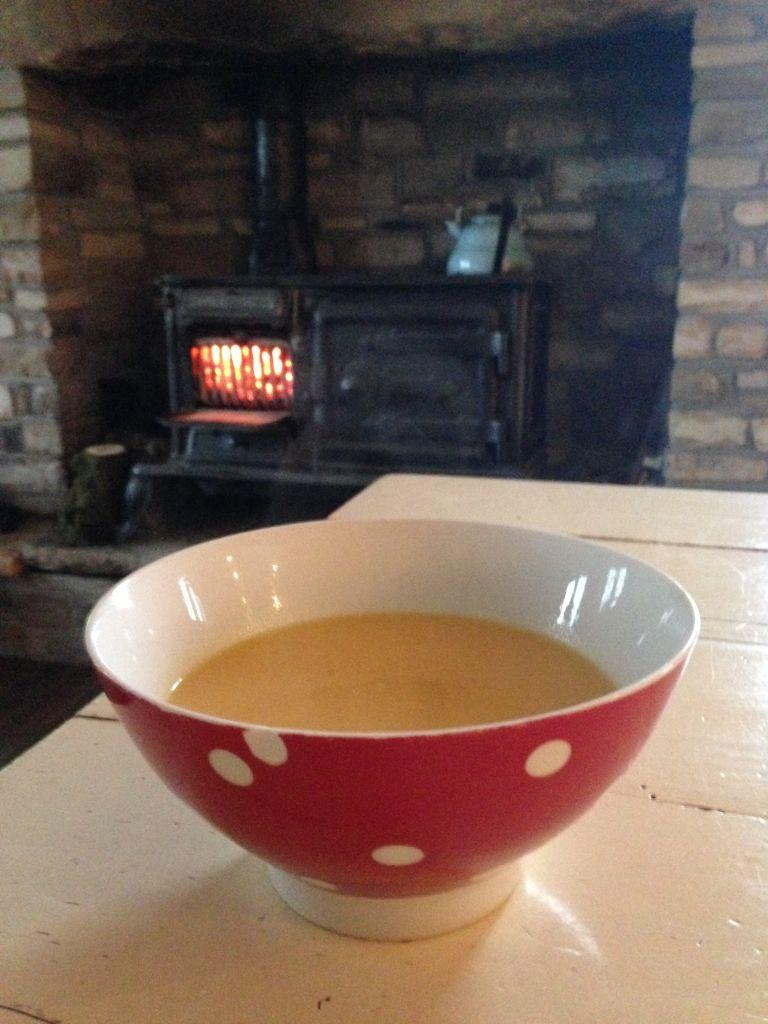 Sweet Potato & Coconut Soup Plus Garlic & Courgette Potatoes