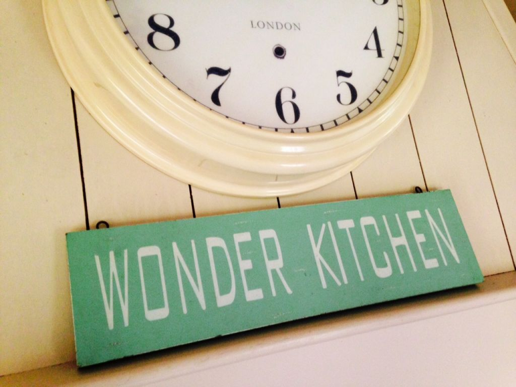 wonder kitchen sign