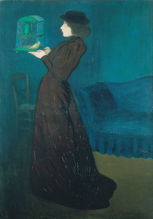 'Woman with a Bird Cage' (1892) by József Rippl-Rónai (1861–1927). Hungarian National Gallery