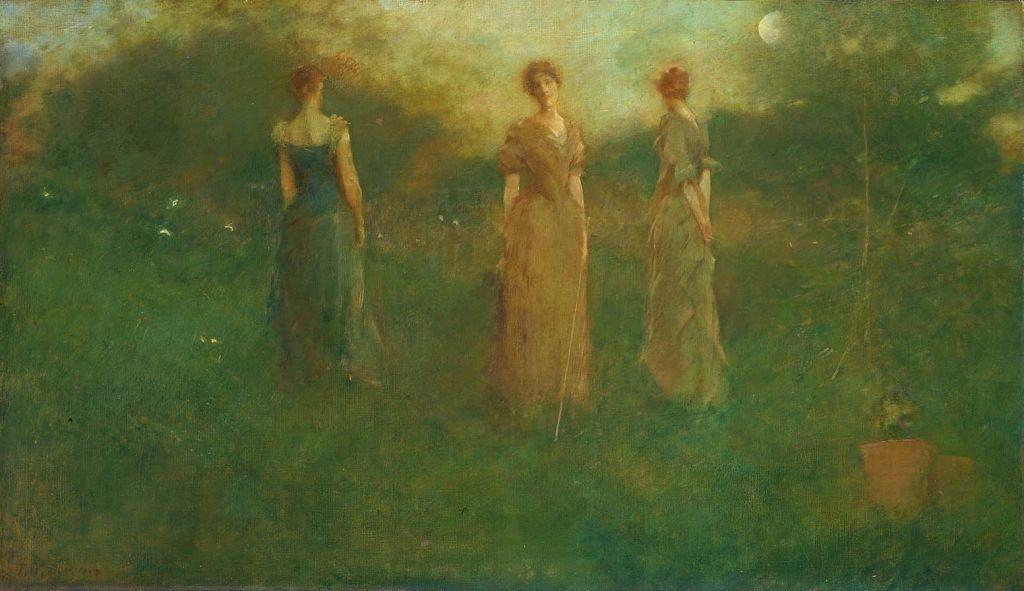 Thomas_Wilmer_Dewing_-_In_the_Garden_-_1892-94