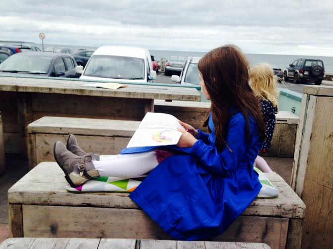 reading by sea
