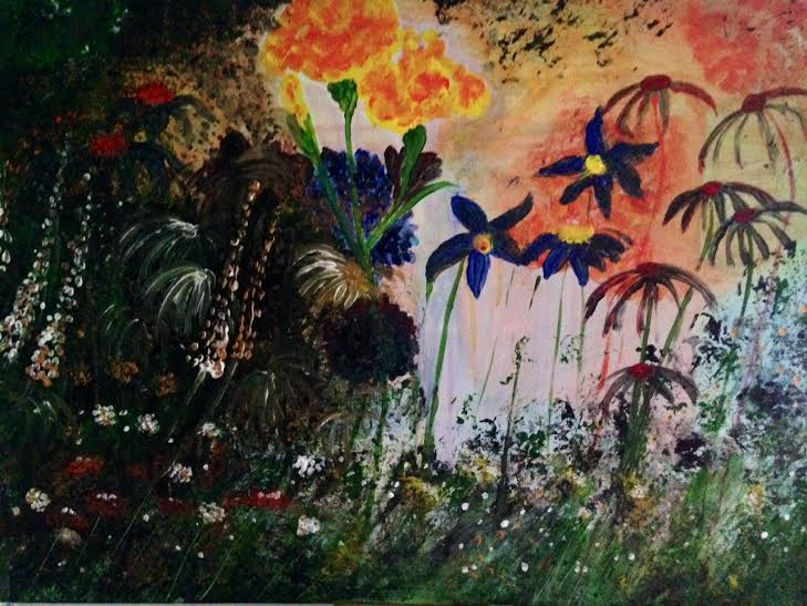 janes garden (painting close up)