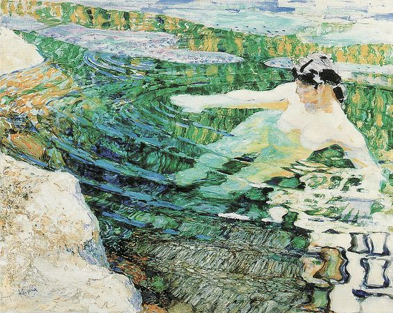 František Kupka, Water, The Bather, 1906-9